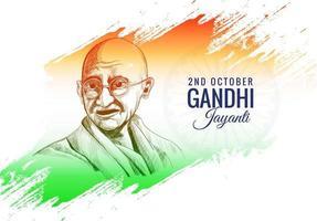 2. Oktober Gandhi Jayanti Poster oder Banner Hintergrund