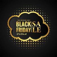svart fredag försäljning med gyllene kort bakgrund
