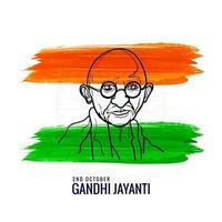 Plakat von Mahatma Gandhi 2. Oktober Gandhi Jayanti Design