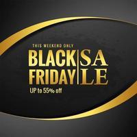 Schwarzer Freitag-Verkauf für goldenen Wellenhintergrund