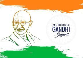 buntes Plakat oder Karte für den Gandhi Jayanti-Feiertagshintergrund