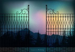 Gratis Northern Night Vector Bakgrund