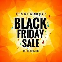 svart fredag försäljningskoncept för polygonbakgrund