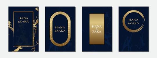 mörkblå bröllopinbjudningskort