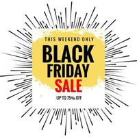 schwarzer Freitag Verkauf Strahlen Karte Hintergrund