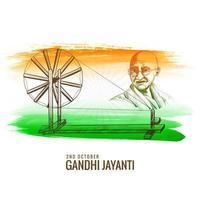 Gandhi Jayanti Spinnrad als Nationalfeiertag