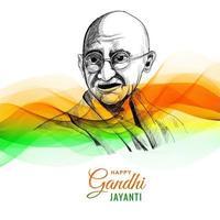 glücklicher Gandhi Jayanti für Wellenhintergrund