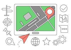 Kostenlose Navigation Icons vektor