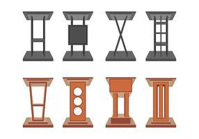 Rednerpult Vektor Icons