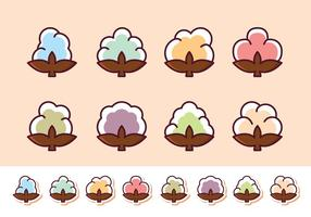 Gratis bomull Flower Vector Pack