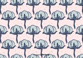 Bomull blommönster vektor