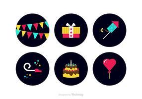 Free Colorful Party Bevorzugungen Vector Icons