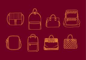 Versace Taschen Illustrationen