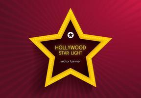 Kostenlose Hollywood Star Lights Vektor Banner