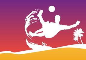 Strand Fußball Tasse