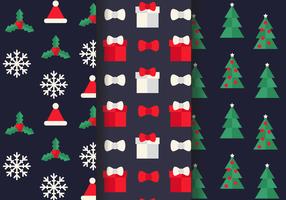 Freier Weihnachtsmuster-Vektor
