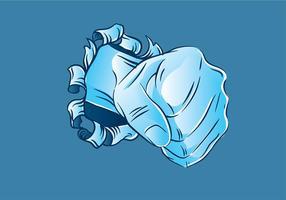 Metal Tear Punch Freier Vektor