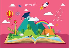 Berättelse berättar utbildning fri vektor