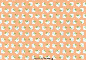 Baumwollblumen Nahtloses Muster vektor