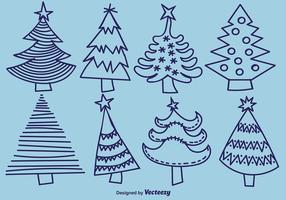 Handdragen Pine Vector Ikoner