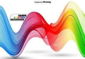 Abstrakt Färgrikt Vågigt Spektrum - Vektor Mall