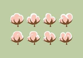 Freie Baumwollblumen-Vektorpackung vektor