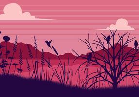 Sea Hafer rosa Hintergrund Free Vector