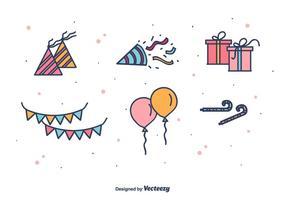 Party favoriserar ikoner vektor