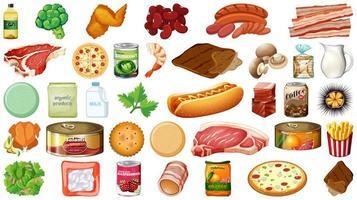 Lebensmittel und Lebensmittel herstellen vektor