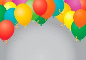 Party bevorzugt Ballons Vorlage vektor