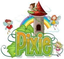 Pixie Little Fairies Charaktere vektor