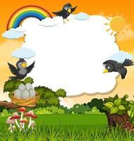 Vögel und Naturkartenschablone