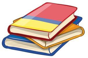 hög med böcker