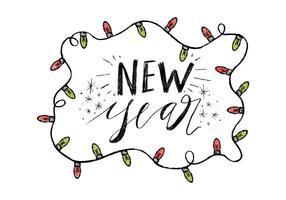 Free New Year Hintergrund vektor