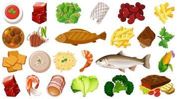 uppsättning färska livsmedelsingredienser