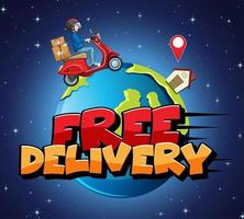 gratis leveransdesign med kurirman
