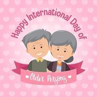 Internationaler Tag der älteren Menschen Banner