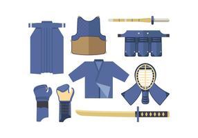 Kostenlose Kendo Vektor Set