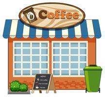 Café, Schaufenster Design vektor