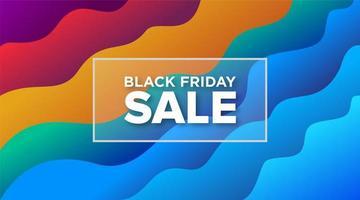 schwarzer Freitag Verkauf Kurve Regenbogen Banner Design vektor