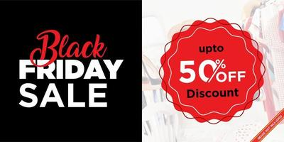 svart fredag enkel försäljningsbanner