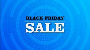 svart fredag försäljning radiell banner design