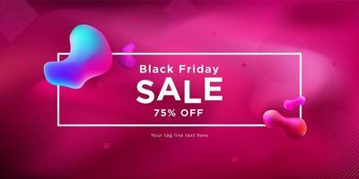 svart fredag försäljning flytande banner design