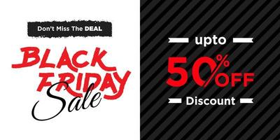schwarzer Freitag Verkauf Banner vektor