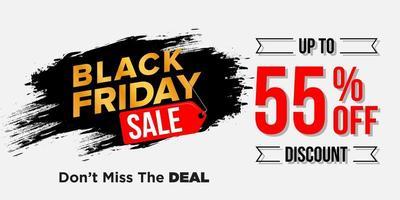 svart fredag försäljning banner