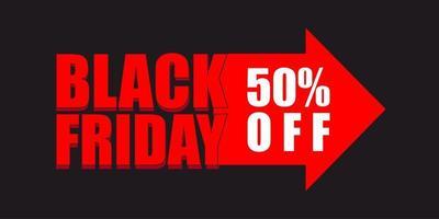 svart fredag försäljning banner formgivningsmall