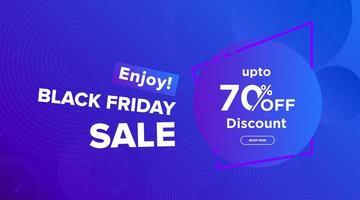 svart fredag ljusblå försäljning banner design vektor