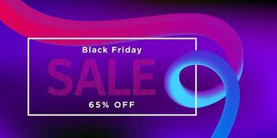 svart fredag försäljning rosa band banner design