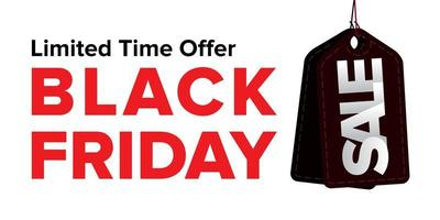 schwarzer Freitag Verkauf Banner Design vektor