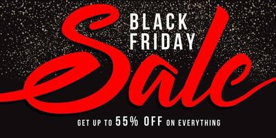 schwarzer Freitag Verkauf Banner